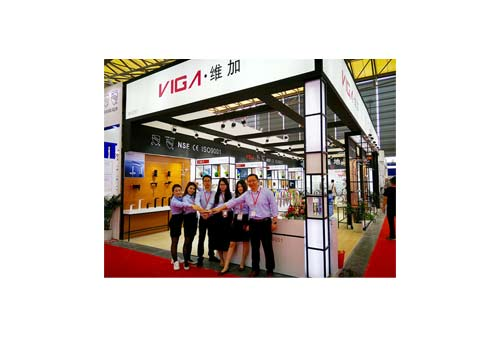 2017 KBC,VIGA Faucet company showed sink faucets, kitchen taps and shower column sets in exhibition.