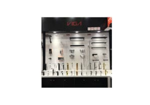 VIGA company showed shower faucet, kitchen sink, bathtub faucet and shower accessories in 2016 canton fair.
