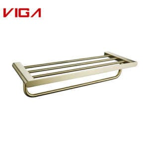 VIGA Top Quality Stainless Steel 304 Brushed Gold Towel Rack For Bathroom