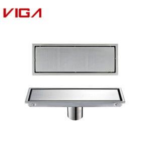 VIGA Hot Sale Bathroom Rectangle Stainless Steel Floor Drainer