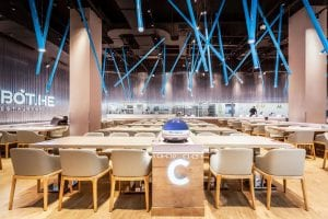 Alibaba의 Box Horse Robot Restaurant : 식당 환경의 미래 개념 | 17 구역
